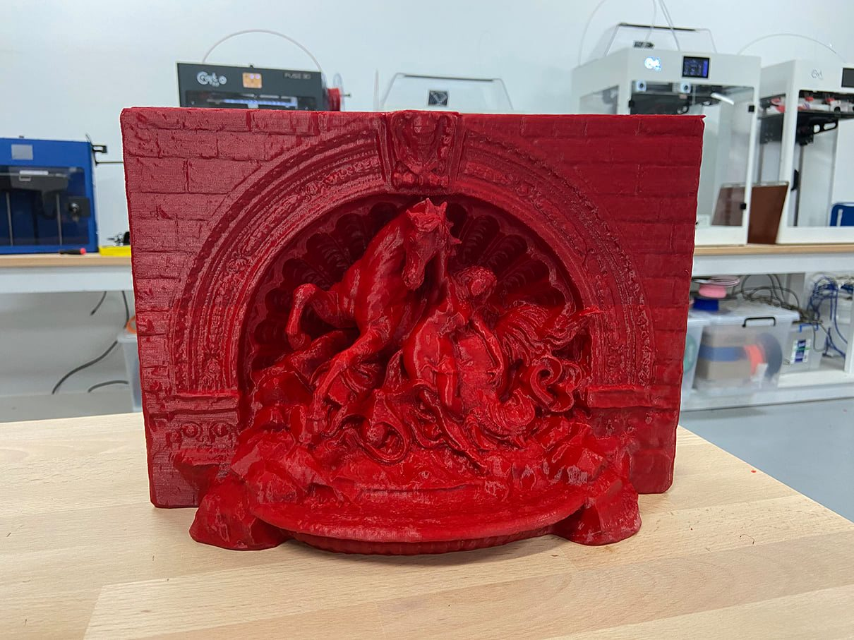 3D printed sculptures<br/>Created by: Rick Norris